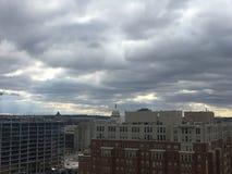 paisagem da tempestade política em Washington Imagem de Stock