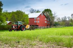 Paisagem da terra luxúria em torno do pennsylva do sul do Condado de York fotos de stock