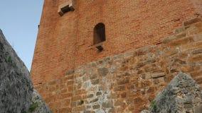 Paisagem da torre de Kizil Kule na península de Alanya, distrito de Antalya, Turquia, Ásia vídeos de arquivo