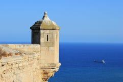 Paisagem da torreta do castelo de Alicante Imagens de Stock