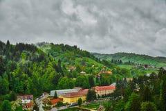 Paisagem da Transilvânia velho Romania do centro de cidade do â de Brasov Imagem de Stock Royalty Free
