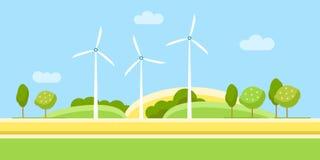 Paisagem da turbina eólica ilustração stock