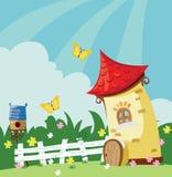 Paisagem da vila ilustração royalty free