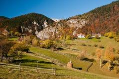 Paisagem da vila em Romania Foto de Stock Royalty Free