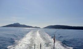 Paisagem da vista bonita de uma ilha atlântica imagem de stock