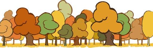 Paisagem das árvores ilustração stock