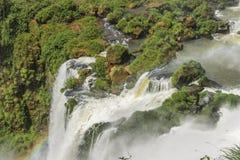 Paisagem das cachoeiras no parque de Iguazu Foto de Stock