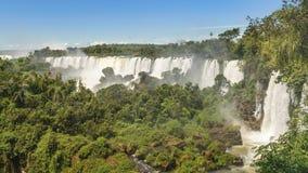 Paisagem das cachoeiras no parque de Iguazu Imagem de Stock