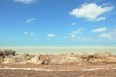 Paisagem das Caraíbas da ilha de Holbox imagens de stock royalty free