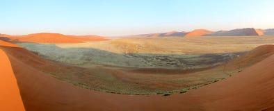 Paisagem das dunas de areia de Sossusvlei, deserto de Nanib Imagem de Stock
