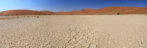 Paisagem das dunas de areia de Sossusvlei, deserto de Nanib Foto de Stock Royalty Free