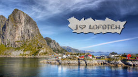 Paisagem das ilhas de Lofoten, Noruega Fotografia de Stock Royalty Free