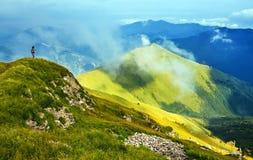 Paisagem das montanhas da mola Fotos de Stock Royalty Free