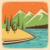 Paisagem das montanhas da natureza do vintage Imagem de Stock Royalty Free