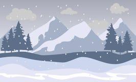 Paisagem das montanhas da neve ilustração royalty free