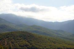 Paisagem das montanhas de Crimeia Foto de Stock