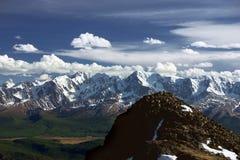 Paisagem das montanhas de geleiras de Altai Foto de Stock Royalty Free
