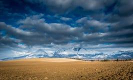 Paisagem das montanhas de Tatra fotografia de stock royalty free