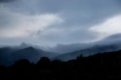 Paisagem das montanhas de Ucrânia Imagens de Stock