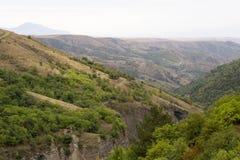 Paisagem das montanhas e dos montes Foto de Stock Royalty Free