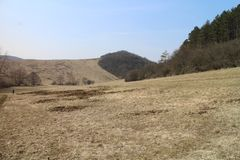 Paisagem das montanhas perto de Myjava Fotografia de Stock Royalty Free
