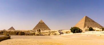Paisagem das pirâmides em Giza, Egito fotos de stock royalty free