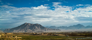 Paisagem de Afeganistão fotografia de stock royalty free