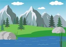 Paisagem de Alpen Fotos de Stock Royalty Free