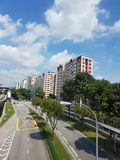 Paisagem de apartamentos residenciais em Singapura Imagem de Stock