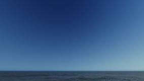 Paisagem de ardência bonita do por do sol na rendição do mar 3D Foto de Stock