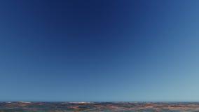 Paisagem de ardência bonita do por do sol na rendição do mar 3D Imagens de Stock