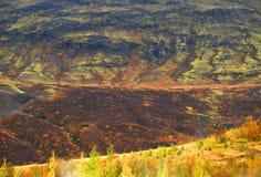 Paisagem de Autumn Icelandic foto de stock