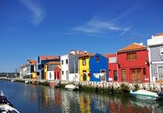 Paisagem de Aveiro, Portugal. fotografia de stock