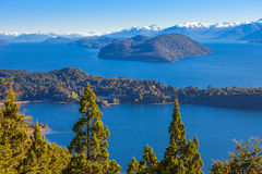 Paisagem de Bariloche em Argentina Imagem de Stock