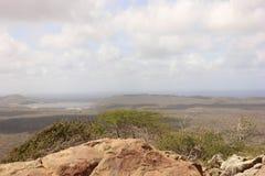 Paisagem de Bonaire sobre dos brandaris imagens de stock royalty free