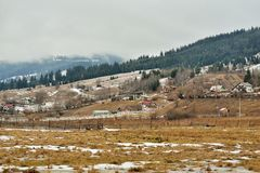 Paisagem de Bukovina, Romênia imagens de stock
