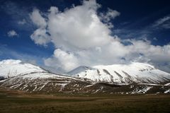 Paisagem de Castelluccio /winter Fotografia de Stock Royalty Free