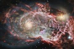Paisagem de conjuntos de estrela Imagem bonita do espaço arte do cosmos ilustração stock