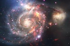 Paisagem de conjuntos de estrela Imagem bonita do espaço arte do cosmos ilustração do vetor