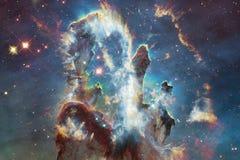 Paisagem de conjuntos de estrela Imagem bonita do espaço arte do cosmos ilustração royalty free