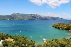 Paisagem de Corfu fotografia de stock royalty free