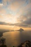 Paisagem de Costa Blanca Fotografia de Stock