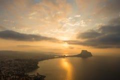 Paisagem de Costa Blanca Foto de Stock Royalty Free