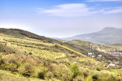 Paisagem de Crimeia, vista de uma montanha Demerdzhi Fotos de Stock Royalty Free