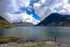 Paisagem de Dalsnibba da montanha em Geiranger, Noruega Fotografia de Stock
