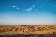 Paisagem de dunas de areia ensolarados Fotos de Stock Royalty Free