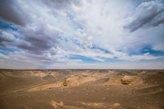 Paisagem de dunas de areia ensolarados Foto de Stock Royalty Free