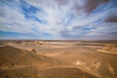 Paisagem de dunas de areia ensolarados Fotografia de Stock