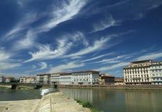 paisagem de Florença com rio de Arno Fotografia de Stock