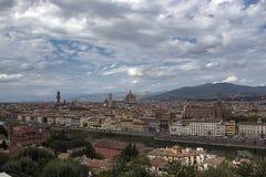 Paisagem de Florença, di Santa Maria del Fiore de Cattedrale foto de stock